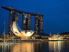Singapore - Marina Bay Sands at night