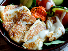 Grilled Haloumi at Byblos Bar & Restaurant WTC Wharf
