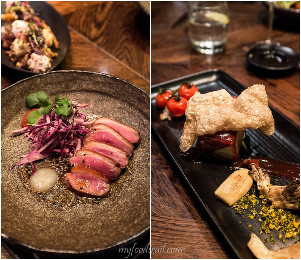 Smoked duck breast, slow cooked pork belly, Dock 37 Bar and Kitchen