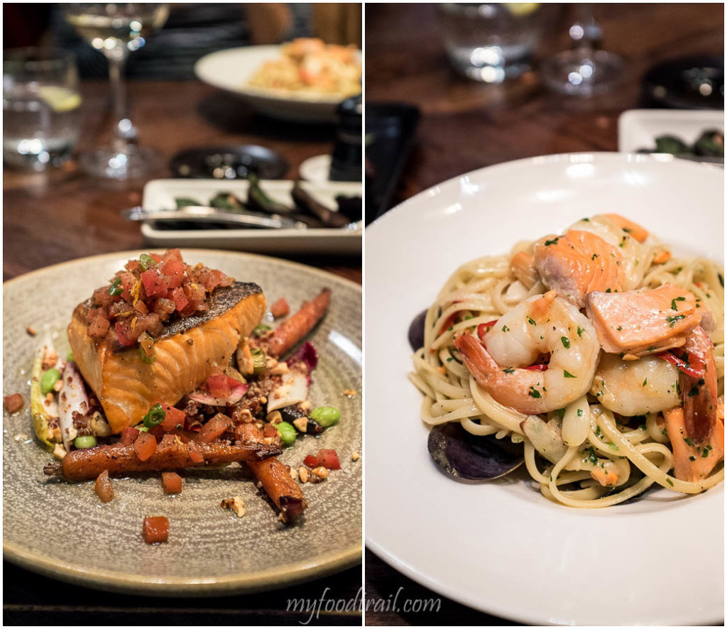NZ King Salmon, Seafood linguine, Dock 37 Bar and Kitchen