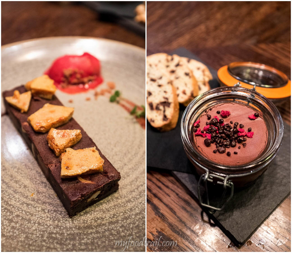 Chocolate brownie, chocolate mousse, Dock 37 Bar and Kitchen