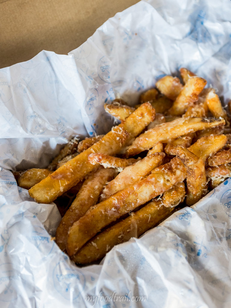 Sauced signature Parmesan dusted chips
